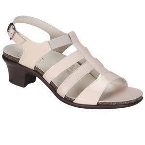 SAS Women's Allegro Strappy Sandals Heel Cream